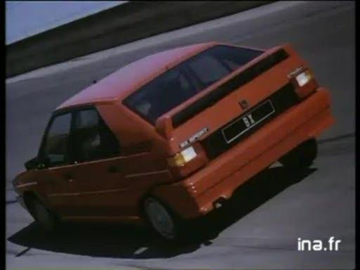 Pub Citroën BX Sport (1985)