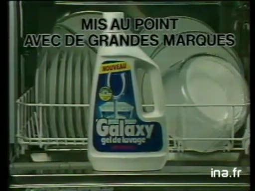 Pub Galaxy Détergent Lave-Vaisselle (1986)