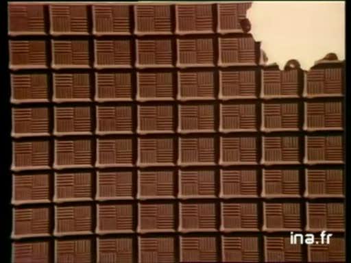 Pub Milka de Suchard Chocolat Noisettes (1981)