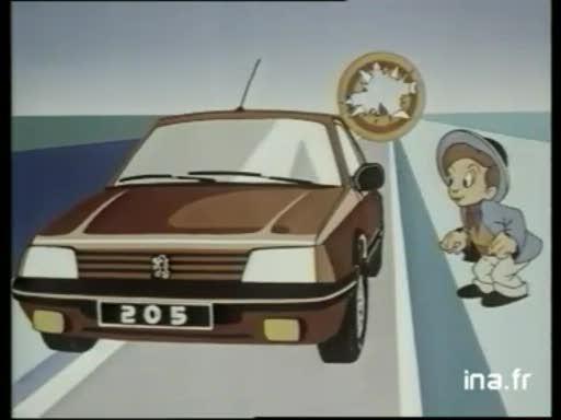 Pub Peugeot 205 Médiavision (1985)