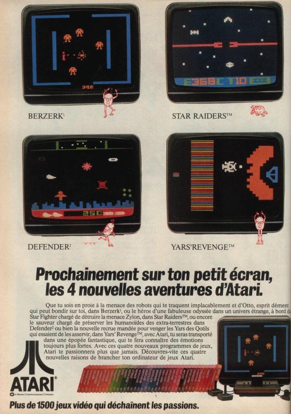 Pub Atari VCS 2600 (1982)