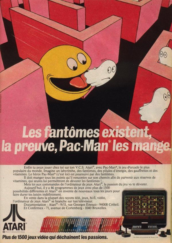 Pub Atari VCS 2600 Pacman (1982)