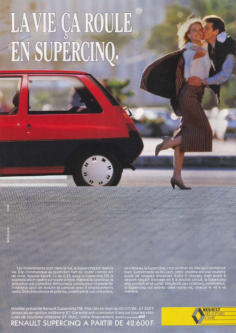 Pub Renault Super 5 (1986)
