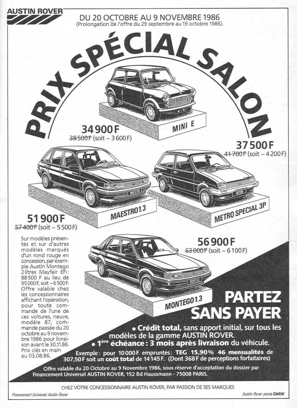 Pub Austin Rover (1986)