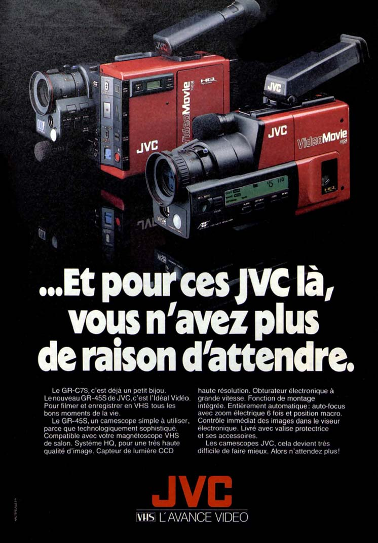 Pub JVC camescope (1988)