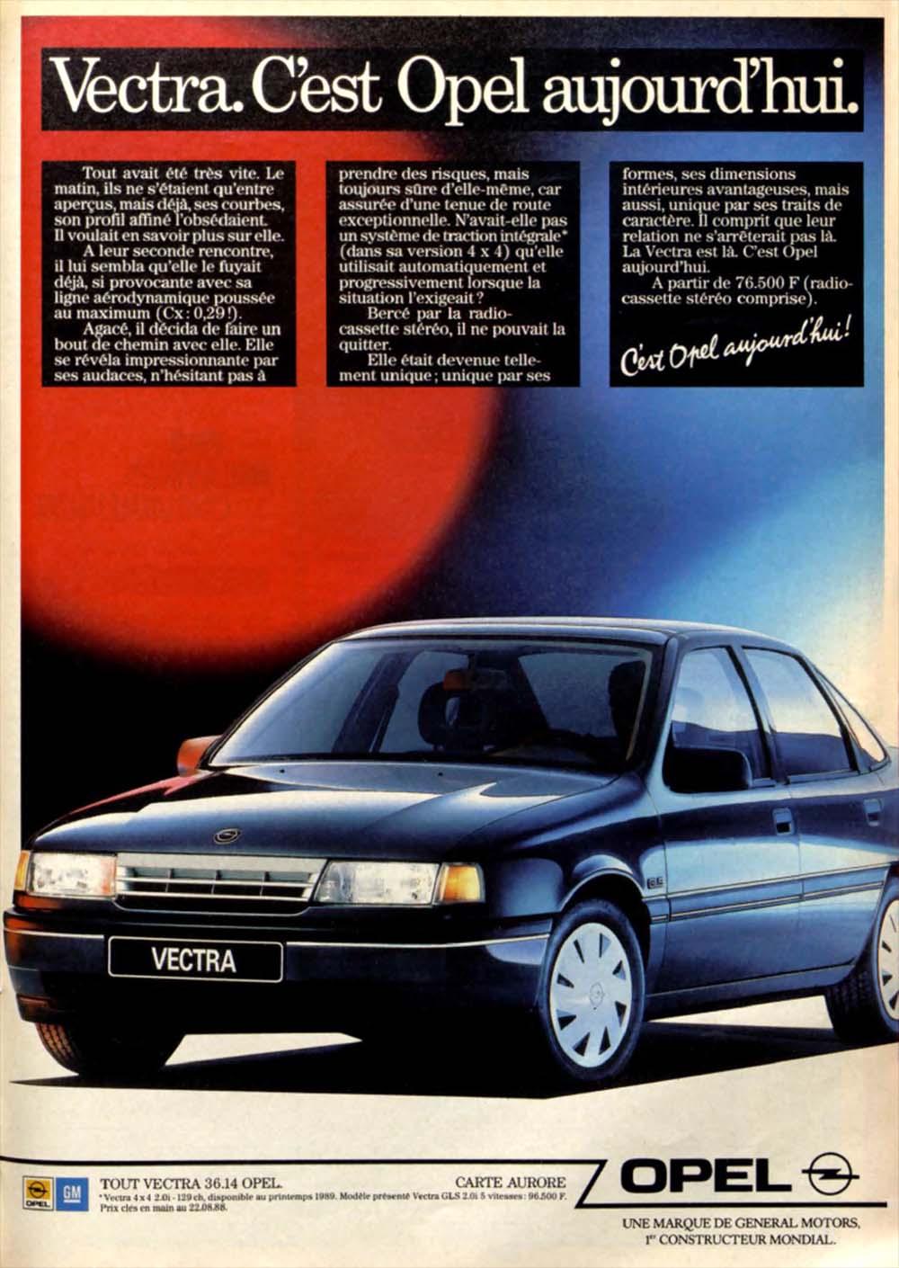 Pub Opel Vectra (1988)