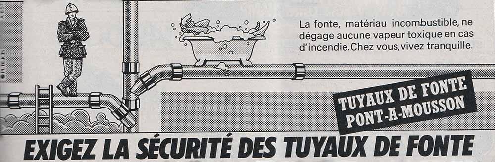 Pub Tuyaux Pont-à-Mousson (1985)