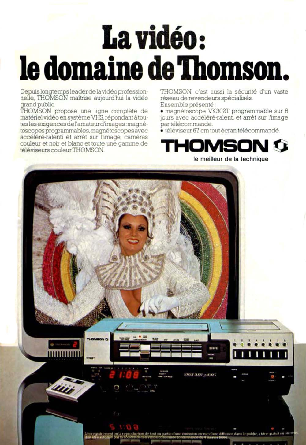 Pub Thomson Téléviseur Magnétoscope (1980)