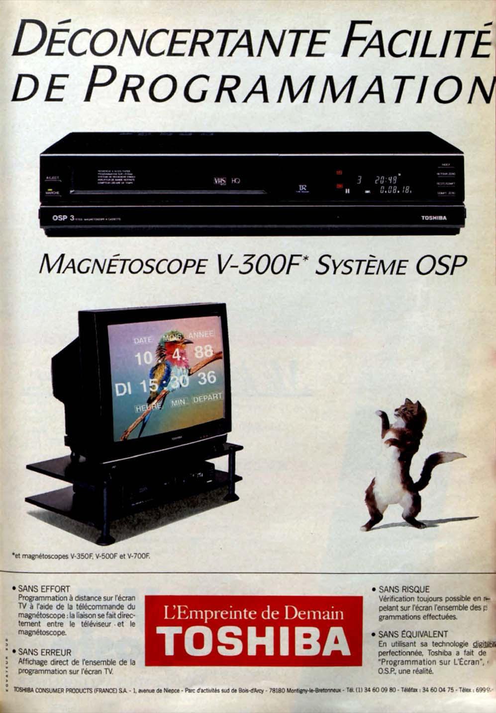Pub Toshiba Télé Magnétoscope (1988)
