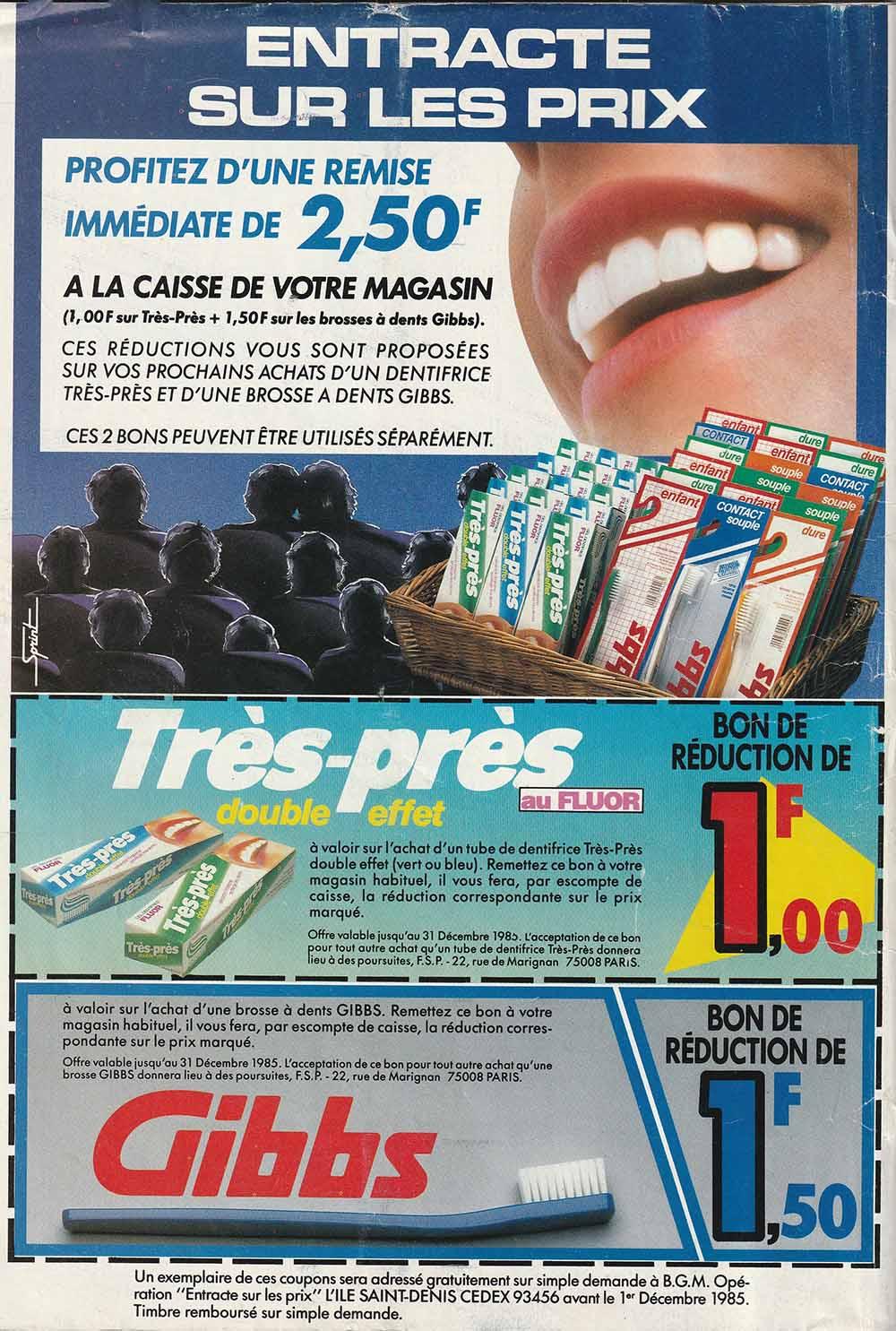 Pub Promo Très-Près Gibbs (1985)