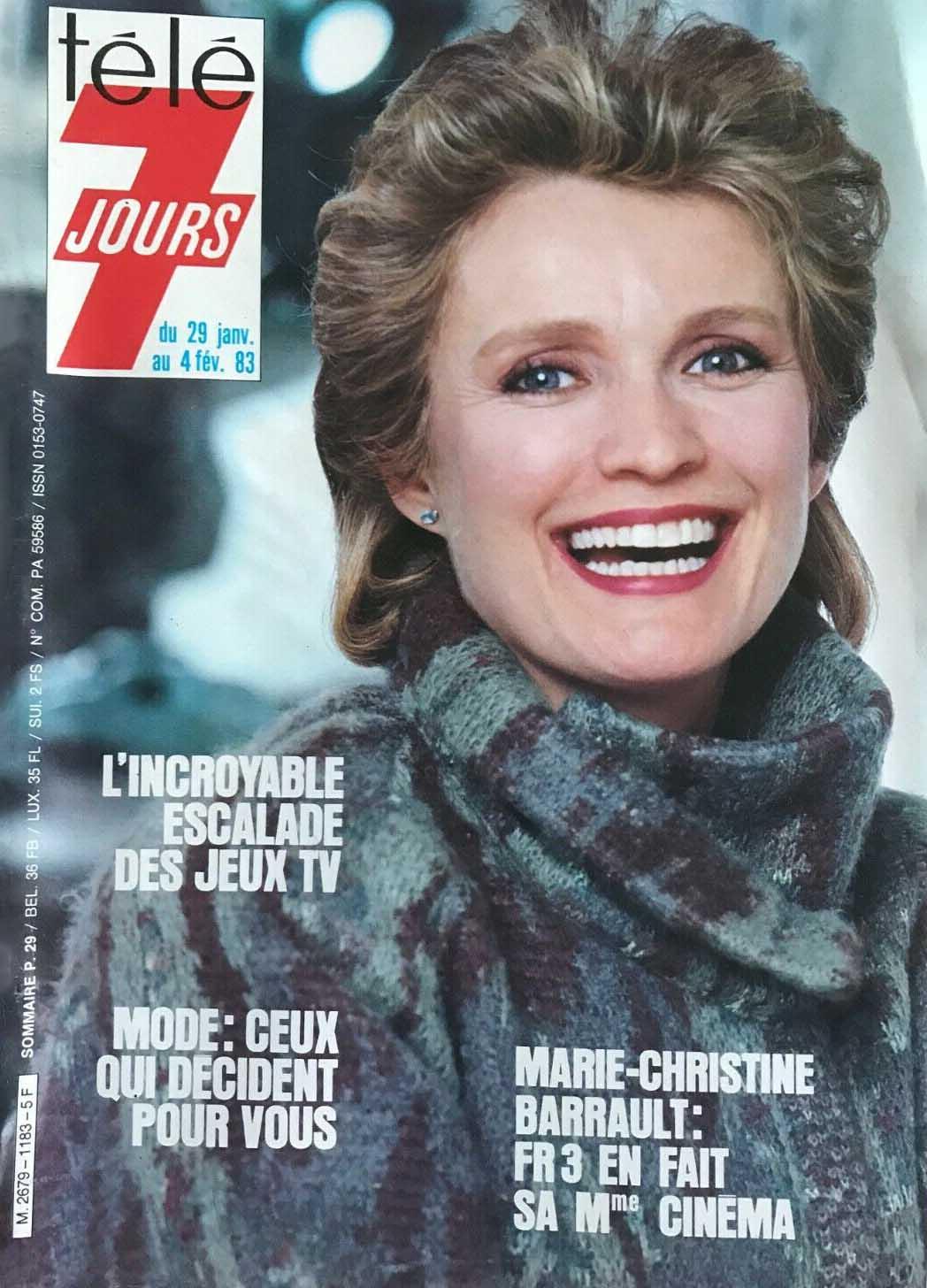 Programme TV du 29 janvier au 4 février 1983